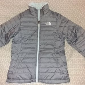 The North Face girls reversible winter coat